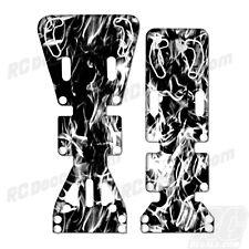 T-Maxx / E-Maxx INTEGY Skid Plate Protectors Digital Flames -White- Traxxas