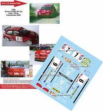 DÉCALS  1/24 réf 1408  Citroen SAXO Kit Car Loeb - Elena Cardabelles 2000