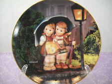M J Hummel Little Companions Danbury Mint Collector Plate Stormy Weather W/Coa