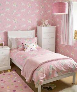 Laura Ashley Unicorns Pink Children's Wallpaper (Same Batch) * FREE DELIVERY