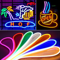1M-5M DC 12V LED Strip Neon Tube Rope Light Flexible Outdoor Boat Bar Sign Decor