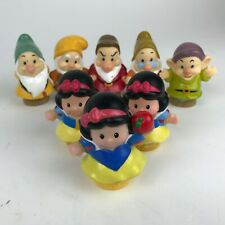3 SNOW White 5 DWARVES Lot LITTLE PEOPLE Fisher Price DOLL Toy APPLE Dopey DOC