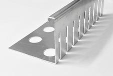 Kiesfangleisten klein gelocht Aluminium 1,5mm Kiesleiste Balkon Flach/ Gründach.