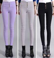 Women High Waist Skinny Stretch Slim Fit Pencil Pants Trousers Leggings Jeggings