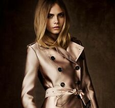 $4,495 Burberry Prorsum 10 12 44 LIMITED 100% Silk & Silk Trench Coat Women Lady