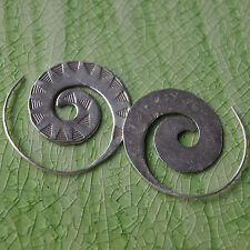 Coil Karen Hill tribe Handmade Earrings Pure Silver Gift silver Thailand