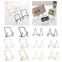 1Pcs Iron Easel Display Stand Bowl Picture Plate Frame Firm Art Practical
