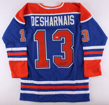 David Desharnais Signed Edmonton Oilers Jersey (Beckett) Current Rangers Center