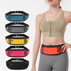 Ultra Thin Sport Waist Belt Bag Running Jogger Hiking Zip Fanny Pouch Waist Pack