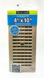 "Decor Grates 4"" x 10"" Plastic Taupe Floor Register New PL410-TA New Sealed"