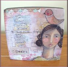 HEART WALL ART BY KELLY RAE ROBERTS 6 INCHES SQUARE FREE U.S. SHIPPING