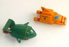 1992 Bandai Juguetes ~ Thunderbirds ~ Conjunto de 2 vehículos unidad de fricción ~ ~ (TH03)