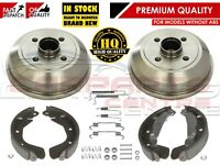 FOR VAUXHALL CORSA C MK2 2000- REAR BRAKE SHOES SET SHOES DRUMS NON ABS MODELS