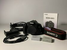 Canon EOS 600D T3i 18.0 MP Digital SLR Camera (Body Only) + 2 Batteries, Charger