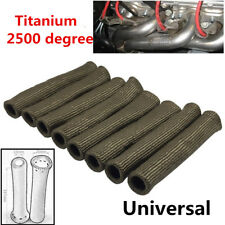 8xTitanium 2500° Spark Plug Wire Protector Sleeve Covers For LS1/LS2/LS4/LS6/LS7