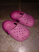 The Children's Place Clog Crocs Sandals Girls Pink Girls Shoes Size 3-6 months