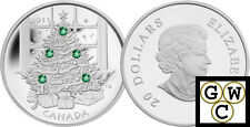 2011 Crystalized 'Christmas Tree' Prf $20 Silver Coin .9999 Fine(12879)(NT)OOAK