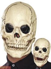 Adult Foam Latex Skull Mask Mens Halloween Skeleton Fancy Dress Accessory Horror