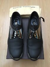 LOUIS VUITTON MENS BROWN SILVER LEATHER LACE UP SHOES UK 7 41