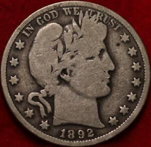 1892-O New Orleans Mint Silver Barber Half Dollar