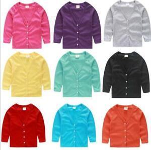 New Spring/ Fall Cotton Toddler kids Cardigan Sweaters Boys Girls Knit Cardigan