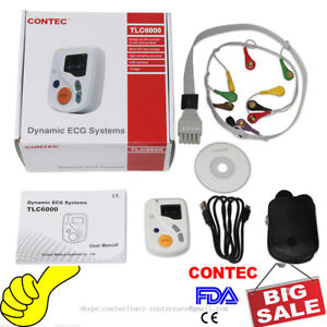 Dynamic ECG Holter Systems 48 Hours EKG Recorder/Analyzer 12 Leads,2GB card,CE
