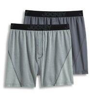 Men's Jockey 2-Pack Boxers Briefs No Bunch Boxer Comfort Stretch Gray Underwear