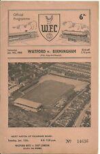 1959-60 Watford v Birmingham City [FAC] Programme