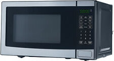 Stainless Steel Microwave With 10 Power Levels Mainstays 0.7 Cu. Ft. 700W