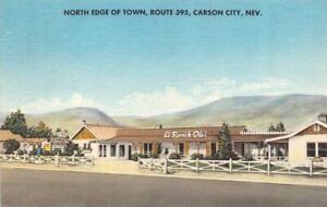 CARSON CITY, Nevada NV   EL RANCH-OTEL~Bill Campbell   ROADSIDE MOTEL  Postcard