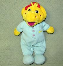 "15"" Vintage Barney BJ THERMAL Pajamas Plush Stuff Doll Lyons Green Yellow KOREA"