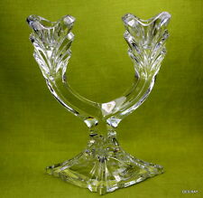 Towle Full Lead Crystal Candle Holder Candelabra two Arm Tulip Design