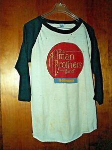 ALLMAN BROTHERS BAND TEE SHIRT VINTAGE US TOUR 1980 1981 JERSEY XL IN CONCERT*