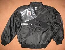 schwarzer Einsatzblouson SECURITY gefüttert , mit reflekt. Aufschrift , Gr.: 3XL