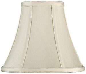 """Creme Small Bell Lamp Shade 4.5"""" Top x 9"""" Bottom x 7.5"""" H (Spider) Replacement"""
