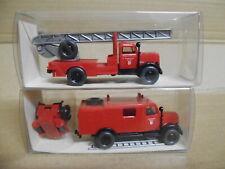 Wiking 862 863 Feuerwehr OPEL Blitz LF8 & DL, unbespielt Epoche3 1:87 NEUw. OVP
