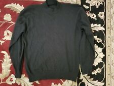 Black 100% Cashmere Mock Turtleneck Pringle of Scotland Sweater Jersey