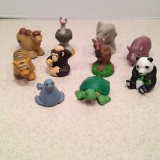 Lot 10 Fisher Price Little People Zoo Talkers Replacement Parts Animals