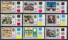 Seychellen 1976 Mi.Nr. 366-74 ** Unabhängigkeit Independence 60,-- EUR