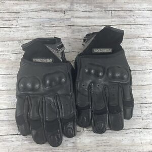 Speed & Strength Womens Backlash Leather & Mesh Motorcycle Gloves size L/G