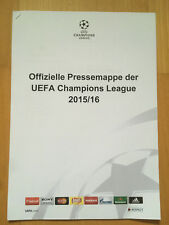 Pressemappe Kit FC BAYERN MÜNCHEN - JUVENTUS TURIN Champions League 2015/16 FCB