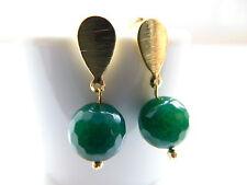 Runde Echter Edelsteine-Ohrschmuck im Ohrstecker-Stil mit Smaragd für Damen