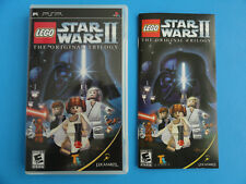 NO GAME SONY PSP LEGO STAR WARS II - CASE & MANUAL ONLY - NO GAME -