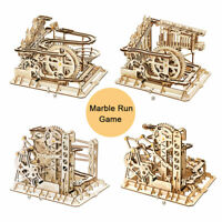 ROBOTIME DIY Marble Run Wooden Model Construction Kits Building Toy Coaster Set