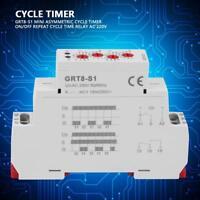 LED Mini Power On Delay Zeitrelais Schaltrelais Hutschienen Typ AC 220V GRT8-A1
