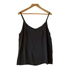 Fate & Becker Cami Top Singlet Black 100% Silk Size 14 NWT