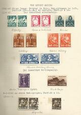 SOUTH AFRICA SG88-95 THE 1941-2 WAR EFFORT SET IN BILINGUAL PAIRS MINT