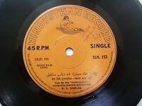 K L SAIGAL SAHAJAHAN HINDI FILM SONG rare EP RECORD 45 vinyl INDIA VG+