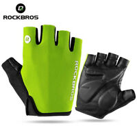 Rockbros Cycling Gloves Half Finger Gel Padded Gloves MTB Road Bike Mitts Green