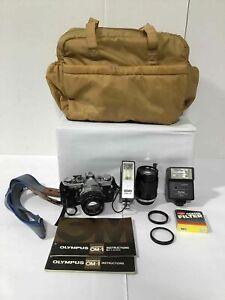 Olympus OM1 35mm Camera w/Accessories